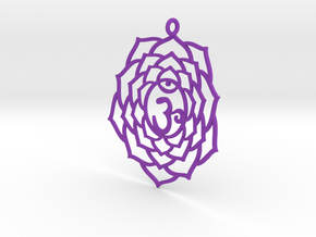 Crown Chakra Necklace in Purple Processed Versatile Plastic