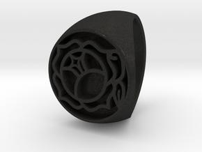 Utena Signet Ring Size 4.5  in Black Acrylic