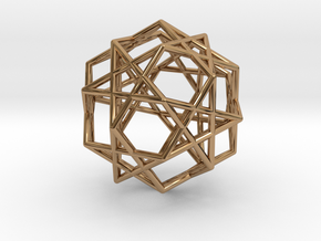 Star Dodecahedron in Polished Brass