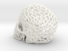 skull lamp in White Processed Versatile Plastic