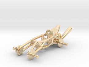 BajaRacer V1: Part 1 in set of 3 - Metal Frame in 14k Gold Plated Brass