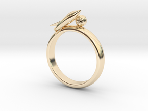 Moon Rocket Ring S 8 in 14K Yellow Gold