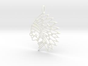 Tribal Chief Pendant in White Processed Versatile Plastic