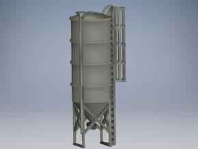 Silo ca. 18 m3 (1/220) in Smooth Fine Detail Plastic