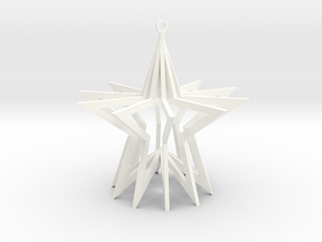 Holiday Ornament in White Processed Versatile Plastic