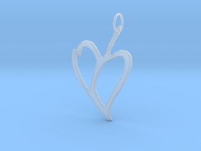 Heart 1 in Smooth Fine Detail Plastic