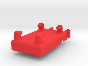 Mobius Case - Bottom Vibration Dampened in Red Processed Versatile Plastic