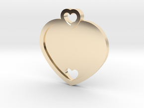 Heart Key Chain (Customizable) in 14k Gold Plated Brass