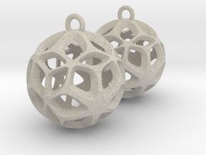Orion-earrings in Natural Sandstone