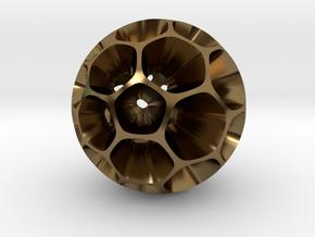 Pollen - Pendant / Keychain in Polished Bronze