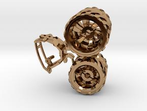 BajaRacer V1: Part 2 in set of 3 - Wheels in Polished Brass