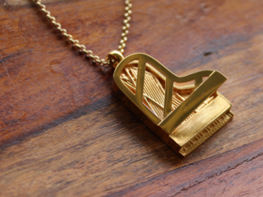 Grand Piano Pendant in 18k Gold Plated
