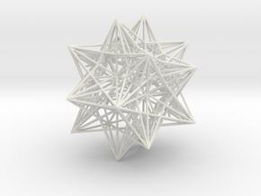 Icosahedron Stellation 3 in White Natural Versatile Plastic