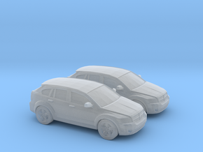 1/148 2X 2007 Dodge Caliber in Smooth Fine Detail Plastic