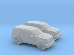 1/148 2X 2010 Dodge Nitro in Smooth Fine Detail Plastic