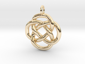 Knot pendant in 14K Yellow Gold