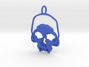 Skull Light Pendant in Blue Processed Versatile Plastic