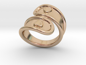 San Valentino Ring 27 - Italian Size 27 in 14k Rose Gold Plated Brass