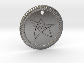 Elder Sign Pendant Alfa  in Polished Nickel Steel