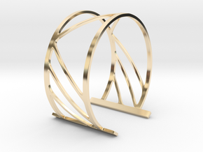 Subgeometric 2_Medium in 14k Gold Plated Brass