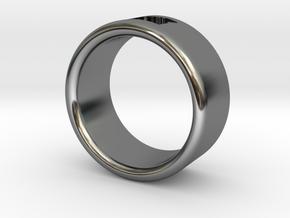 OREGON RING (17mm interior diameter) in Fine Detail Polished Silver