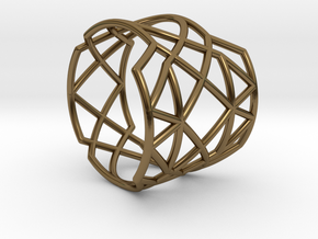 INTERSECTION Ring Nº21 in Polished Bronze