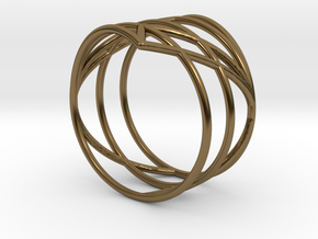 23 Ring 17,20mm in Polished Bronze