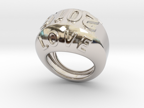 2016 Ring Of Peace 15 - Italian Size 15 in Rhodium Plated Brass