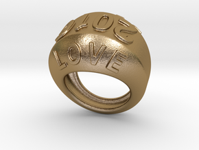 2016 Ring Of Peace 15 - Italian Size 15 in Polished Gold Steel