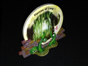 Gate Holders (6 pcs) - Arkham Horror (2nd Ed.) in White Processed Versatile Plastic