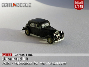Citroën 11BL (British N 1:148) in Smooth Fine Detail Plastic