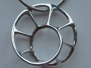 mobius pendant 27 27 10 in Fine Detail Polished Silver