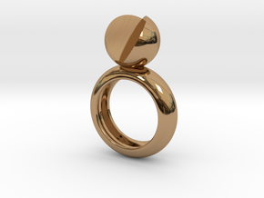 SIMPLY LOVE - size 8 in Polished Brass