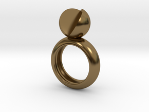 SIMPLY LOVE - size 8 in Polished Bronze