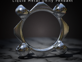 Liquid Metal Unity Pendant in Stainless Steel