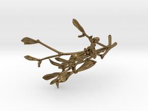 """Mistletoe- 4"""" in Polished Bronze"""