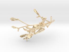 """Mistletoe- 4"""" in 14k Gold Plated Brass"""