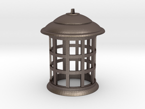 1/4 Scale TARDIS Top Lamp in Polished Bronzed Silver Steel