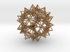 Stellation of a Rhombic Triacontahedron in Polished Brass