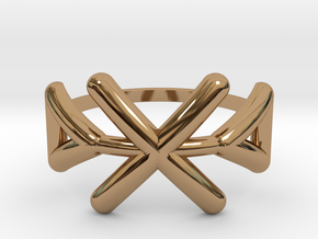 Tribal ring Size M / 6 in Polished Brass