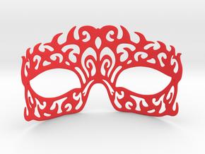 Masquerade mask in Red Processed Versatile Plastic