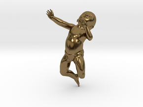 3D Crawling Baby in Polished Bronze