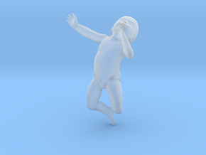 3D Crawling Baby in Smooth Fine Detail Plastic
