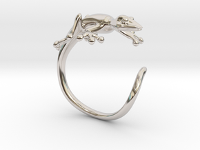 Gekko Wraparound Ring in Rhodium Plated Brass