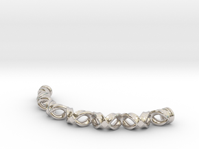 Double Helix Bracelet in Platinum