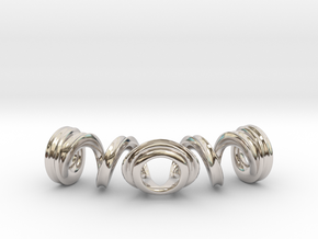 Spiral Bracelet in Rhodium Plated Brass