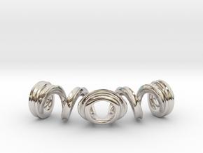 Spiral Bracelet in Rhodium Plated Brass