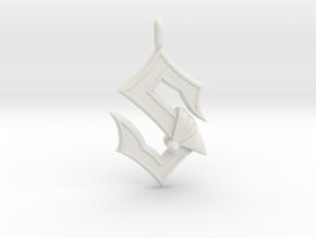 Sabaton Pendant in White Natural Versatile Plastic