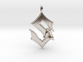 Sabaton Pendant in Platinum