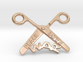 Cut The War in 14k Rose Gold Plated Brass